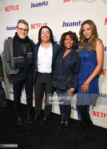 Roderick M Spencer Duncan Spencer Alfre Woodard and Mavis Spencer attend the 'Juanita' New York screening at Metrograph on March 07 2019 in New York...