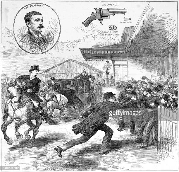 Roderick McClean shooting at Queen Victoria at Windsor railway station From 'The Illustrated London News' 11 March 1882