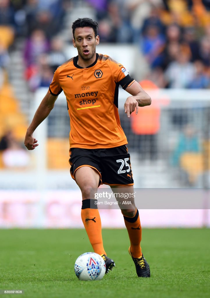 Roderick Miranda of Wolverhampton Wanderers during the Sky Bet Championship match between Wolverhampton and Cardiff City at Molineux on August 19, 2017 in Wolverhampton, England.