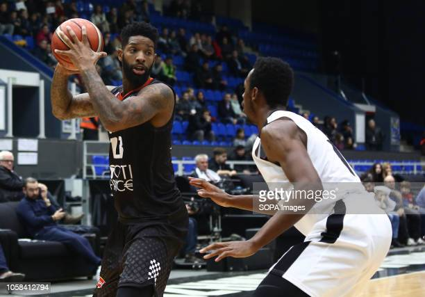 Roderick Odom and Camerlon Clark seen in action during the game Basketball Champions League BC Nizhny Novgorod from Russia vs Le Mans from France The...
