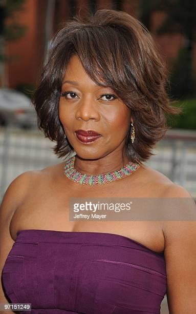 Roderick Spencer and actress Alfre Woodard arrive at the 41st NAACP Image Awards at The Shrine Auditorium on February 26 2010 in Los Angeles...