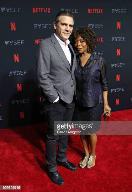 Roderick Spencer and Alfre Woodard attend the Netflix FYSEE KickOff at Netflix FYSEE at Raleigh Studios on May 6 2018 in Los Angeles California