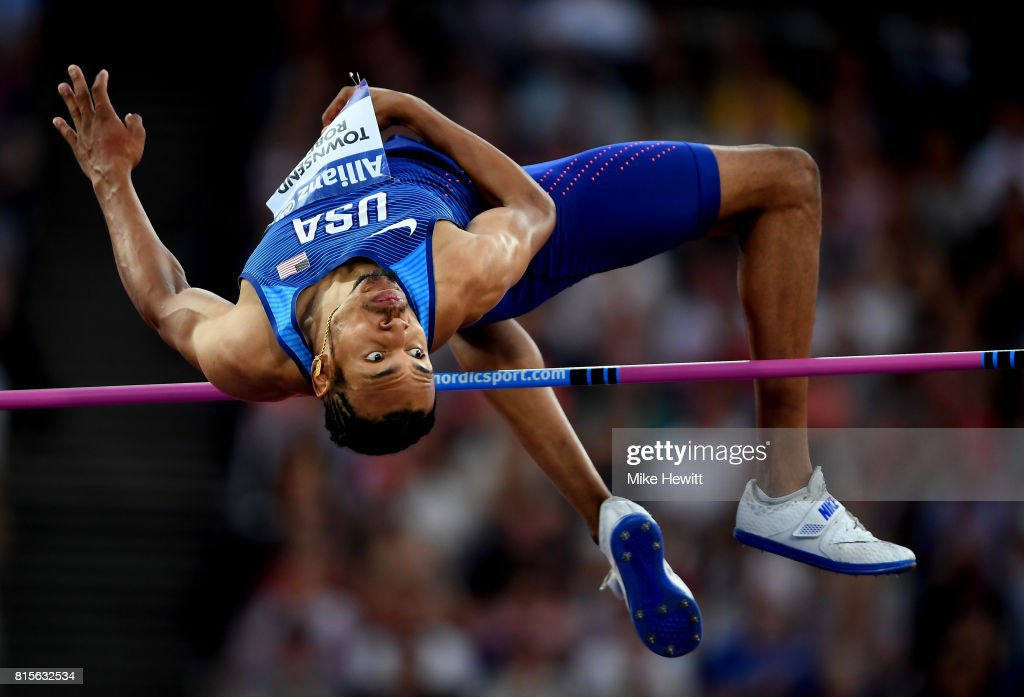 Roderick Townsend-Roberts of the USA competes in the Men's High Jump T47 Final during day three of the IPC World ParaAthletics Championships 2017 at the London Stadium on July 16, 2017 in London, England.