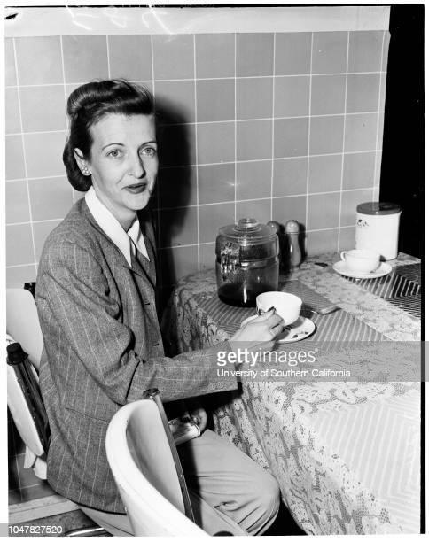 Roderick Wilson Press Conference 24 February 1954 Mrs Helene Wilsoncopies of letter to Burr McCloskeyPaul MooreCaption slip reads 'Photographer...
