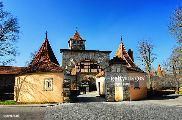 rodertor rothenburg - rothenburg stock photos and pictures