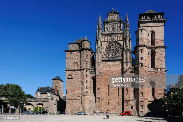 Rodez cathedral, place d'Armes, Aveyron, Midi-Pyrenees, France