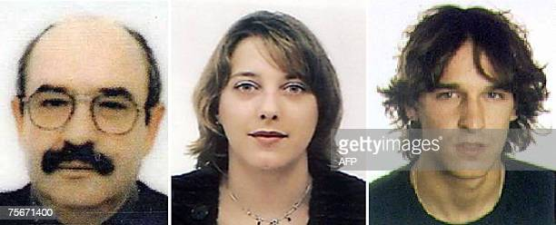 Undated handout photo from the Spanish interior ministry of three suspected members of ETA including the logistics chief of the Basque separatist...