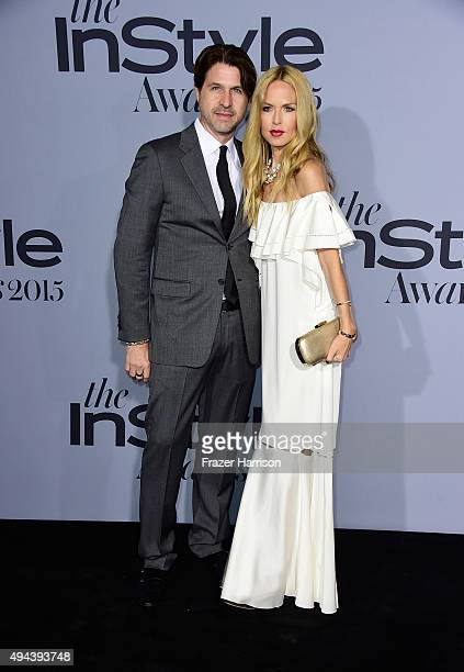 Rodger Berman and fashion designer Rachel Zoe attend the InStyle Awards at Getty Center on October 26 2015 in Los Angeles California