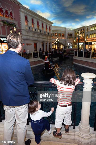 Rodger Berman and his sons Kaius Berman and Skyler Berman arrive at Grand Canal Shoppes at The Venetian The Palazzo and Fashion Show Las Vegas as...