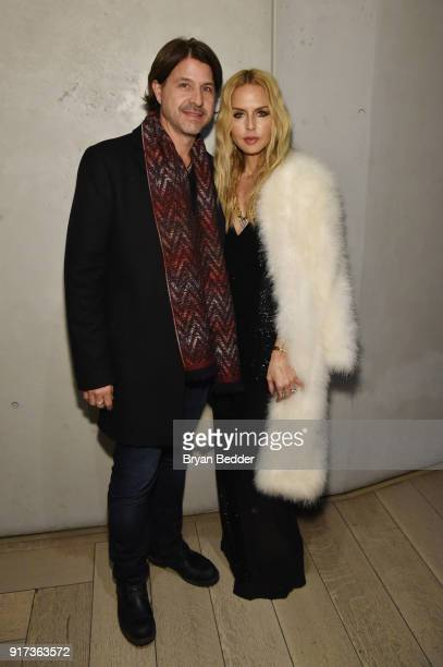 Rodger Berman and Rachel Zoe attend NYFW The Shows Celebration hosted by Amazon Echo Look on February 11 2018 in New York City