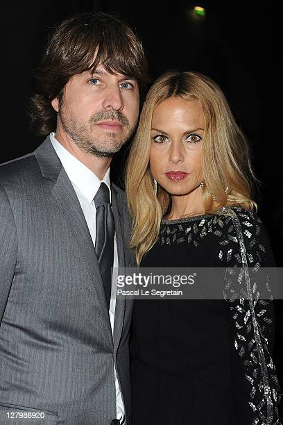 Rodger Berman and Rachel Zoe attend the Alexander McQueen Ready to Wear Spring / Summer 2012 show during Paris Fashion Week on October 4 2011 in...