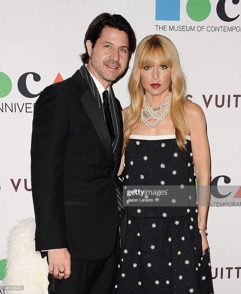 Rodger Berman and Rachel Zoe attend the MOCA 35th anniversary gala celebration at The Geffen Contemporary at MOCA on March 29, 2014 in Los Angeles, California.