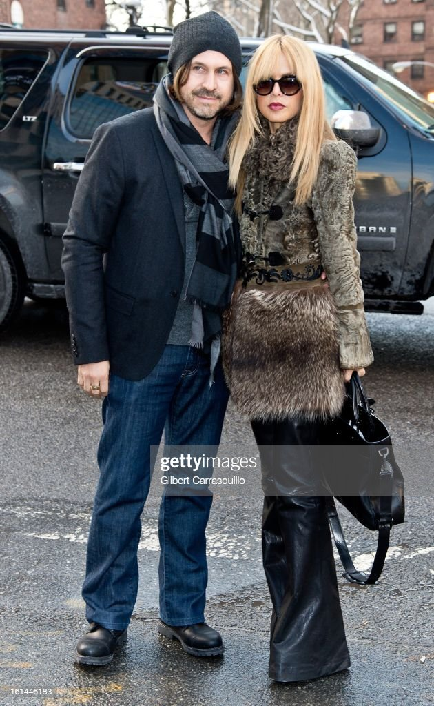 Rodger Berman and Rachel Zoe attends Fall 2013 Mercedes-Benz Fashion Show at The Theater at Lincoln Center on February 10, 2013 in New York City.