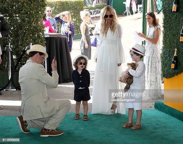 Rodger Berman Kaius Berman stylist Rachel Zoe and Skyler Berman arrive at the 7th Annual Veuve Clicquot Polo Classic at Will Rogers State Historic...
