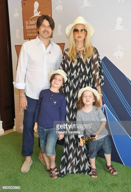 Rodger Berman Rachel Zoe Skyler Morrison Berman and Kaius Jagger Berman at the Brooks Brothers Beverly Hills summer camp party benefitting St Jude...