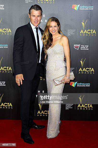 Rodger Corser and Renae Berry arrive at the 3rd Annual AACTA Awards Ceremony at The Star on January 30 2014 in Sydney Australia