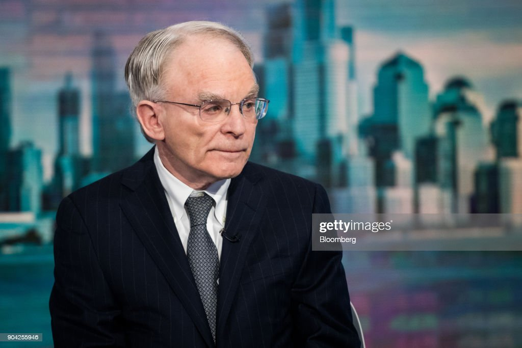 H. Rodgin Cohen, senior chairman of Sullivan & Cromwell LLP, listens during a Bloomberg Television interview in New York, U.S., on Friday, Jan. 12, 2018. Cohen said it's just a matter of time until U.S. regulators launch a sweeping response to bitcoin. Photographer: Mark Kauzlarich/Bloomberg via Getty Images