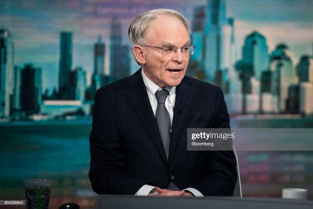 H. Rodgin Cohen, senior chairman of Sullivan & Cromwell LLP, speaks during a Bloomberg Television interview in New York, U.S., on Friday, Jan. 12, 2018. Cohen said it's just a matter of time until U.S. regulators launch a sweeping response to bitcoin. Photographer: Mark Kauzlarich/Bloomberg via Getty Images