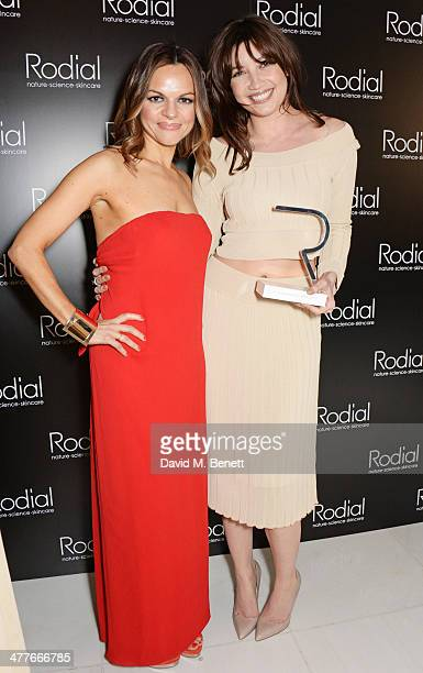 Rodial Founder Maria Hatzistefanis and Daisy Lowe winner of the Woman of the Year award attend the 5th annual Rodial Beautiful Awards to celebrate...