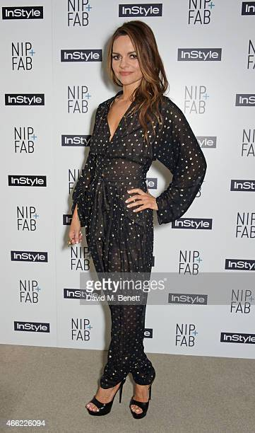 Rodial founder Maria Hatzistefanis attends the NIPFAB InStyle Tea Party at The London Edition Hotel on March 14 2015 in London England