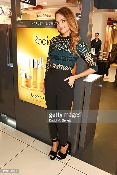 Rodial founder Maria Hatzistefanis celebrates Rodial 1st year anniversary at Harvey Nichols on November 26 2015 in London England