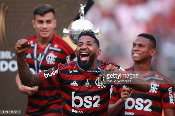 Rodinei of Flamengo celebrates the victory after winning the final match of Copa CONMEBOL Libertadores 2019 between Flamengo and River Plate at...