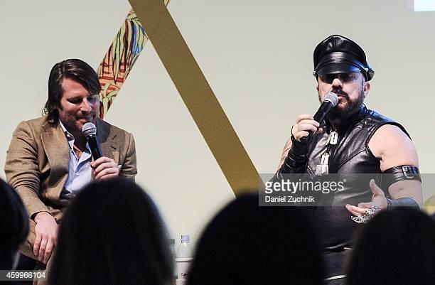 Rodman Primack and Peter Marino speak during the Design Miami Vernissage on December 4 2014 in Miami Beach Florida
