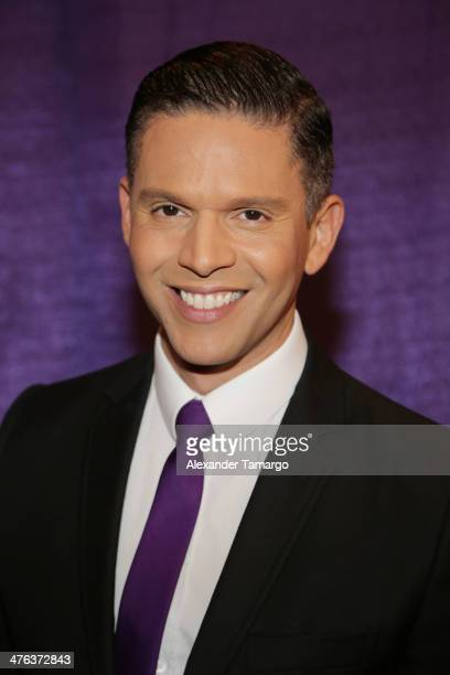 Rodner Figueroa is seen attending the premiere show of Univision's Nuestra Belleza Latina at Univision Headquarters on March 2 2014 in Miami Florida
