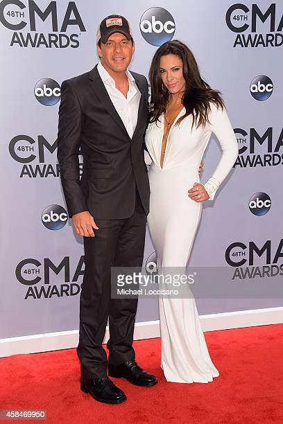 Rodney Atkins and Rose Falcon attend the 48th annual CMA Awards at the Bridgestone Arena on November 5, 2014 in Nashville, Tennessee.