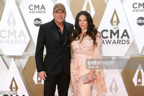 Rodney Atkins and Rose Falcon attend the 53nd annual CMA Awards at Bridgestone Arena on November 13 2019 in Nashville Tennessee