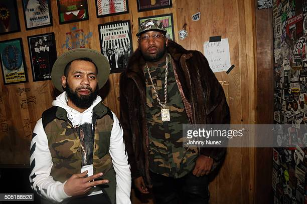 Rodney Bucks Charlemagne and Windsor Slow Lubin attend Webster Hall on January 12 in New York City