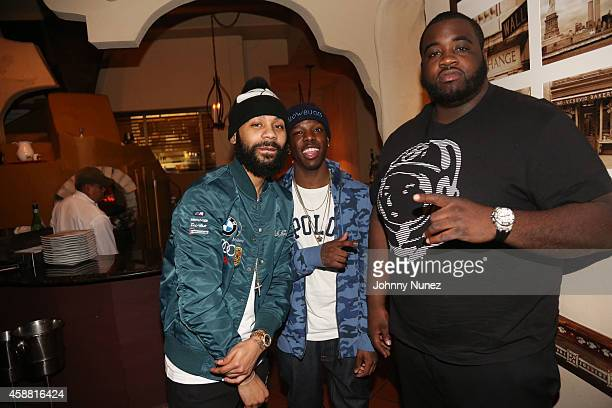 Rodney 'Bucks' Charlemagne Von and Sid Bounce attend SBOE Private Dinner at Fino Ristorante Italiano on November 10 2014 in New York City