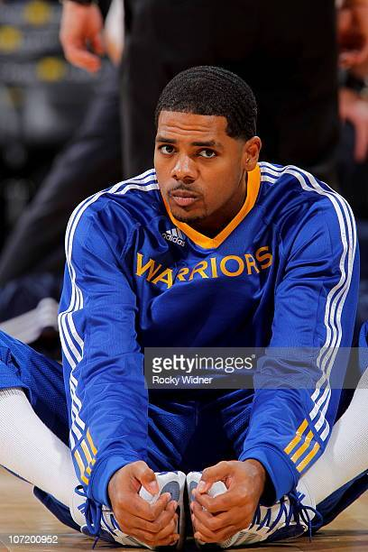Rodney Carney of the Golden State Warriors gets ready to take on the Utah Jazz on November 5 2010 at Oracle Arena in Oakland California NOTE TO USER...