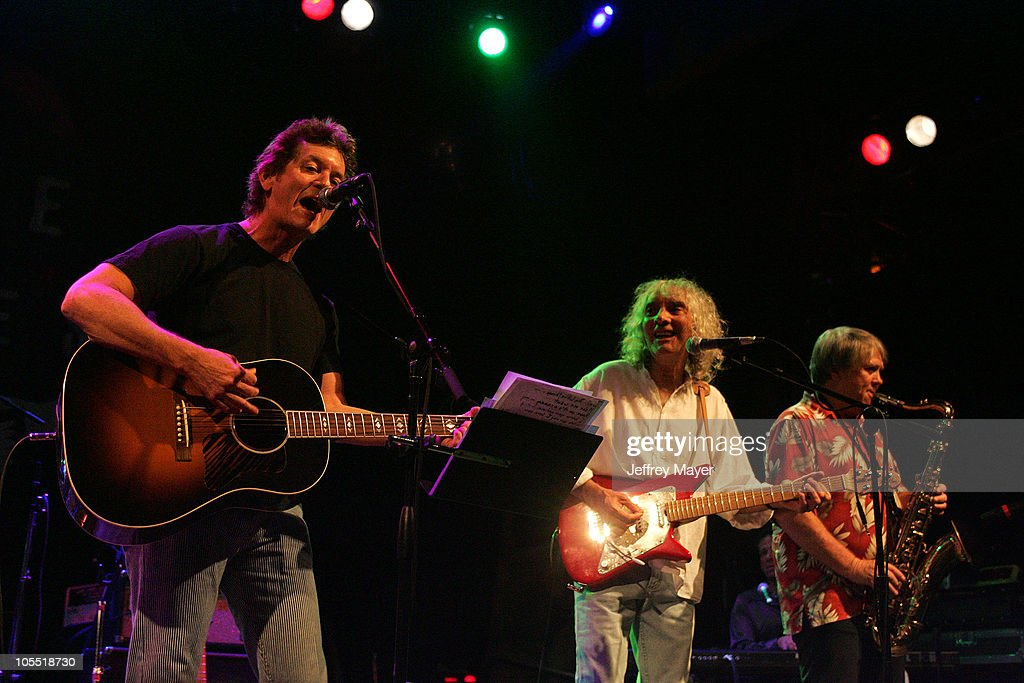 Rodney Crowell, Albert Lee and Bobby Keys during The Crickets and Friends in Concert at the House of Blues at House of Blues in West Hollywood, California, United States.