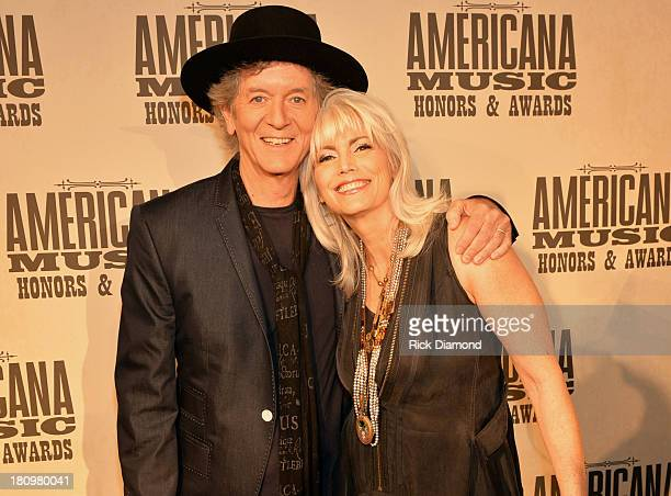 Rodney Crowell and Emmy Lou Harris attend the 12th Annual Americana Music Honors And Awards Ceremony Presented By Nissan on September 18 2013 in...
