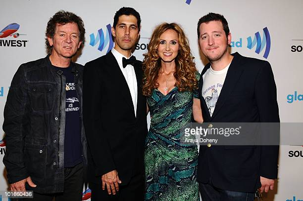 Rodney Crowell Jarrett Barrios GLAAD President and Chely Wright arrive at the 21st Annual GLAAD Media Awards at San Francisco Marriott Marquis on...