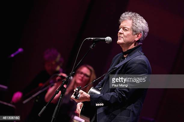 Rodney Crowell performs on stage during The Life Songs of Emmylou Harris An All Star Concert Celebration at DAR Constitution Hall on January 10 2015...