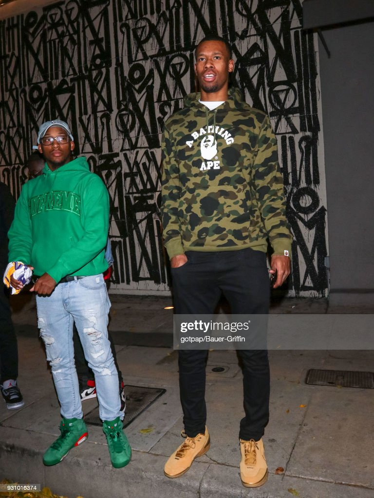Rodney Hood is seen on March 11, 2018 in Los Angeles, California.