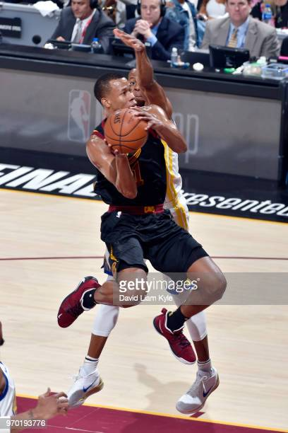 OH Rodney Hood of the Cleveland Cavaliers drives to the basket during the game against the Golden State Warriors in Game Four of the 2018 NBA Finals...