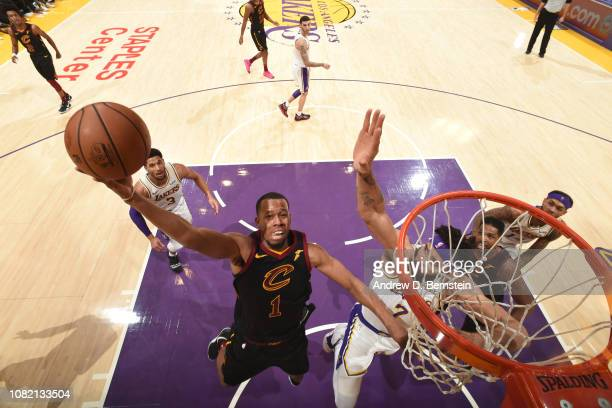 Rodney Hood of the Cleveland Cavaliers shoots the ball against the Los Angeles Lakers on January 13 2019 at STAPLES Center in Los Angeles California...