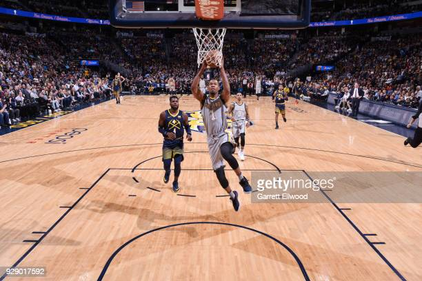 Rodney Hood of the Cleveland Cavaliers shoots the ball during the game against the Denver Nuggets on March 7 2018 at the Pepsi Center in Denver...