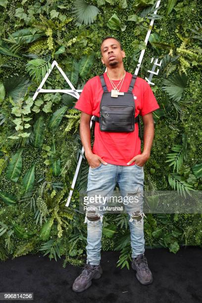 Rodney J Brown 'RJ' attends Ashley North's Launch of 'AN STYLE' Candles at IceLink Boutique and Rooftop Lounge on July 11 2018 in West Hollywood...