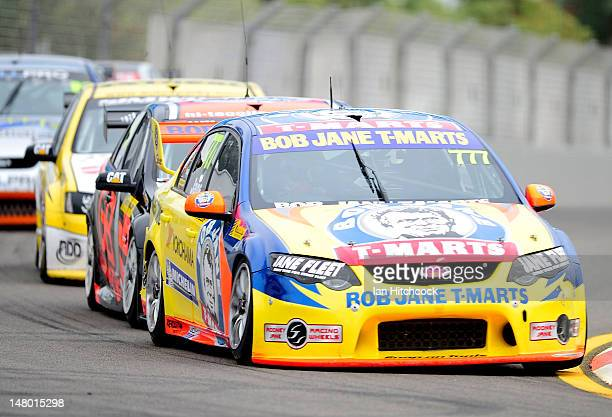 Rodney Jane drives the Bob Jane TMarts Ford during race 2 of the Dunlop Series at Reid Park on July 8 2012 in Townsville Australia