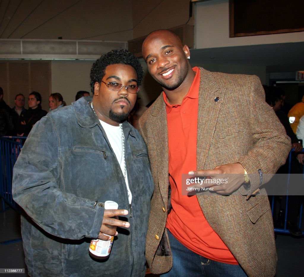 Rodney Jerkins and Roy Williams during Celebrities Attend the Zab Judah vs Carlos Baldomir Boxing Match - January 7, 2006 at Madison Square Garden in New York, New York, United States.