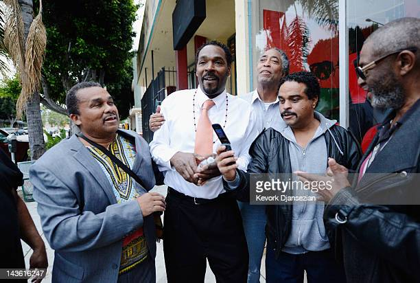 Rodney King is greeted by his fans as he arrives at Eso Won bookstore to sign copies of his new book 'The Riot Within My Journey From Rebellion to...