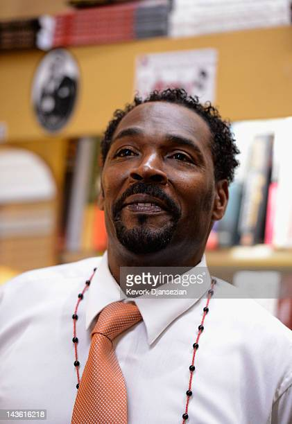 Rodney King speaks during a book signing event for his new book 'The Riot Within My Journey From Rebellion to Redemption' at EsoWon bookstore on...