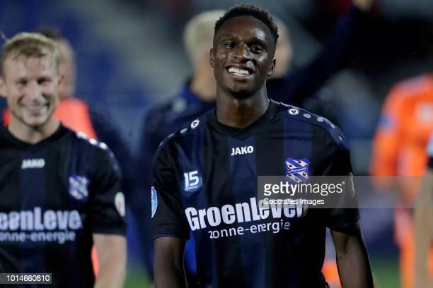 Rodney Kongolo of SC Heerenveen celebrates the victory during the Dutch Eredivisie match between PEC Zwolle v SC Heerenveen at the MAC3PARK Stadium...