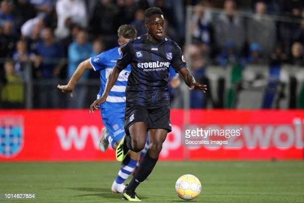 Rodney Kongolo of SC Heerenveen during the Dutch Eredivisie match between PEC Zwolle v SC Heerenveen at the MAC3PARK Stadium on August 10 2018 in...