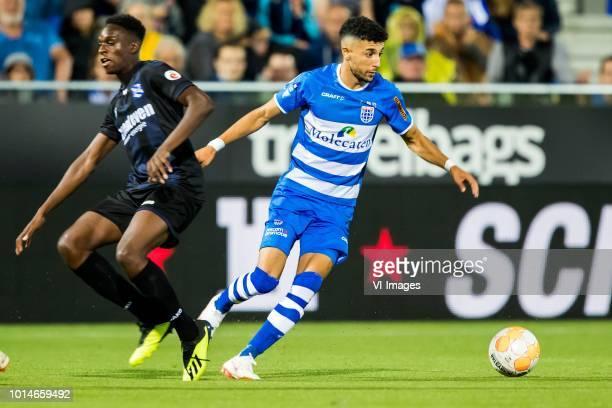 Rodney Kongolo of sc Heerenveen Younes Namli of PEC Zwolle during the Dutch Eredivisie match between PEC Zwolle and sc Heerenveen at the MAC3Park...