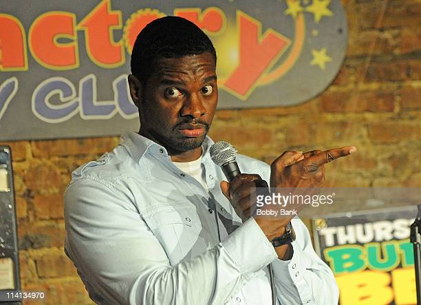 Rodney Laney performs at The Stress Factory Comedy Club on May 12, 2011 in New Brunswick, New Jersey.